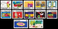 Canada (Scott No. 519-30 - Noël / 1970 / Christmas) (o) Série / Set - 1952-.... Règne D'Elizabeth II