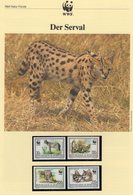 Roter Litschi WWF-Set 68 Botswana 431/4 **,4x FDC+4x MKt. 40CHF Dokumentation 1988 Fauna Wildlife Covers/cards Of Africa - Timbres