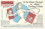 Buvard Curling La Permanente Chez Soi - Buvards, Protège-cahiers Illustrés