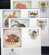 Dokumentation 1989 WWF-Set 78 Bulgarien 3741/4 **,4 FDC+4 MKt. 20CHF Fledermäuse Abendsegler Wildlife Covers Of BULGARIA - Timbres