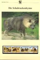 Hyänen 1995 WWF-Set 190 Botswana 586/9 **,4x FDC+4x MKt. 43CHF Schabracken-Hyäne Dokumentation Fauna Wildlife Of Africa - Protection De L'environnement & Climat