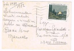 A663 Auguri Di Buon Natale - 200 Lire Giuseppe Ugonia / Viaggiata 1981 - 1946-.. République