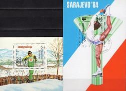 Olympiade Sarajevo 1984 Kampuchea Blocks 132+135 O 3€ Langlauf Eiskunstlauf Blocs Ss Olympics Ms Sheets Bf Cambodge - Winter (Other)