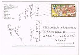 A687 Chateaux Valdotains - Castelli Valdostani - 800 0,41 Lire Ercolano / Viaggiata 2000 - 6. 1946-.. Repubblica