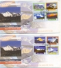 2004 NEPAL MOUNTAIN SERIES 2 FDC WITH LEAFLET 50TH ANNIVERSARY OF MT.CHO OYU HILLS. - Népal
