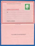 Monaco; Aérogramme Prince Rainier; 1,60 F Sur 1,40 F; Faltbrief Neu - Luftfahrt