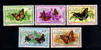 St. Vincent 1978 YT506-10 ** Danaus Plexippus, Agraulis Vanillae, Battus Polydamas, Junonia L, Thecla D, Anarthia J. - Farfalle