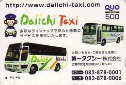 Carte Japon - Voiture Bus Autobus / Dai Ichi TAXI Assurance Insurance - Car Japan Card - Auto Versicherung Karte - 63 - Voitures