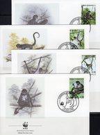 WWF-Set 45 Congo 1063/6 **, 4FDC+ 4MKt. 35CHF Kongo-Krokodile Mit Dokumentation - Timbres