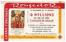Buvard Rouge Et Or Grand Concours - Buvards, Protège-cahiers Illustrés