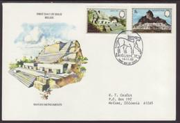 E)1983 BELIZE, MAYAN MONUMENTS, CULTURE, RUINS, ARCHITECTURE, FDC - Belize (1973-...)