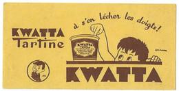 Buvard Kwatta Tartine Signé J.m Poirier - Buvards, Protège-cahiers Illustrés