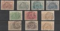 BELGIQUE BELGIUM 1882/94  CHEMINS DE FER  # 7/14 + 9B + 13A (r 5417) - Ferrovie