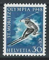 HH-/-678. JO 1948 - N°452, * * , COTE 4.25 €, Je Liquide - Svizzera