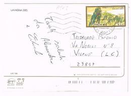 A905 Lavagna (Genova) - Vedute / Viaggiata 2000 800 Lire Foresta Fossile Di Dunarobba Avigliano Umbro - 6. 1946-.. Repubblica