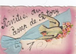 AMITIES DU CAMP DE SATORY    CARTE FANTAISIE AVEC AJOUTIS      COLOMBE - France