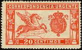 ES256-L2082TU.URGENTE. España.Spain.Espagne.PEGA SO.1905 .(Ed 256*) Con Charnela .LUJO - Correo Urgente