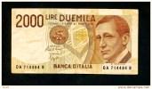 """2000  Lire """" ITALIE """"  3 Octobre 1990    VF       Bc90 - [ 2] 1946-… : République"""