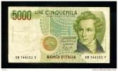 """5000  Lire """" ITALIE """"  4 Janvier1985   VF       Bc91 - [ 2] 1946-… : République"""