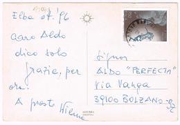 A1041 Isola D'Elba (Livorno) - Panorama DiMarciana E Poggio / Viaggiata 1996 750 Lire Eugenio Montale - 1946-.. République