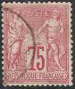# France   75, 4 Margins, Used, Sound   (fr075-4,  Michel 66.l.      [16-AC - 1876-1878 Sage (Type I)