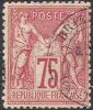 # France 75,  Used, Sound (fr075-2, Michel 66.l. [16-AC - 1876-1878 Sage (Type I)