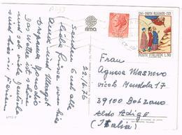 A1133 Igea Marina - Vedute  / Viaggiata 1976 90 Lire Dante Alighieri 1965 + 10 Lire Siracusana - 1946-.. République