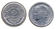 ** 2 FRANCS MORLON ALU. 1941 ETAT TTB+  **2F386 ** - France