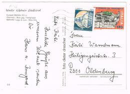 A1166 Merano - Meran - Maia Alta - Obermais  / Viaggiata 1982 170 Lire XXII Giornata Del Francobollo + 30 Lire Castelli - 1946-.. République
