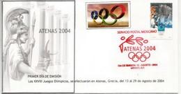 MEXIQUE. Jeux Olympiques Athenes 2004  FDC Du Mexique - Summer 2004: Athens