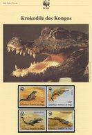 WWF-Set 45 Republique Congo 1063/6 O 14€ Kongo-Krokodile Mit Dokumentation - Kongo - Brazzaville