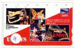 Carte Prépayée Japon (19) DISNEY JAPAN * PREPAID CARD *   Electrical Parade Unisys Papillon Butterfly * Tosho - Disney