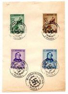 """SS40 - REGNO , Rossini Serie 466/469 Su Foglietto Con Annullo """"Servizio Del Lavoro Del Reich BERLINO"""" - Briefe U. Dokumente"""