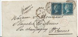 GBV231 / Victoria 2 Pence, SG 45, Plate 7, 1 Marke Mit Ivory Head - Briefe U. Dokumente