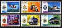 2006 HONG KONG  POLICE-FIRE-MOTORCYC-CARS 6V - 1997-... Chinese Admnistrative Region