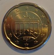 =====   20 Cent ALLEMAGNE 2007 Atelier F état BU  ===== - Deutschland