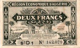 Enlarge Enlarge  Algeria, 2 Francs Banknote 1949 - Algerije