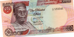NIGERIA 100 NAIRA 2007 F VF - Nigeria