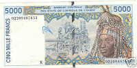 WEST AFRICAN STATES 5000 FRANCS 2003 SENEGAL @ - Senegal