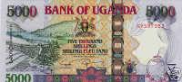 UGANDA, P.44, 5000 SHILLINGS, 2008, UNC. - Uganda
