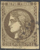 # France 46, Used,ssmall And Shallow Thin   (fr046-24, Michel 42a [16-BBE - 1870 Bordeaux Printing