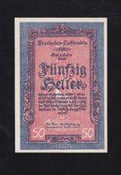 50 Heller Liechtenstein Banconote XF-AU. - Liechtenstein