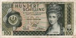 AUSTRIA 100 SCHILLINGS 2.1.1969 P 146 CIRCULATED - Oostenrijk