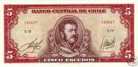 Chile 5 Escudos ND 1964 Pick 138 UNC - Chili