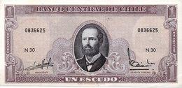 CILE P.136  1 ESCUDOS 1964 UNC - Chile
