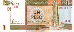 CUBA NOTE 1 PESO 2006 VF CONVERTIBLES - Cuba