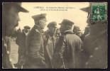 CPA  ANCIENNE- FRANCE- LUNÉVILLE (54)- OFFICIERS ALLEMANDS A L´ATTERRISSAGE D´UN DIRIGEABLE ZEPPELIN- TRES GROS PLAN - Luneville