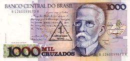 BRASILE 2 UNC 1000 CRUZADOS DIFFERENT BANKNOTES - Brazil