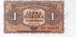 CZECHOSLOVAKIA NOTE 1 KORUN 1953 Banknote Pk 78b - Tchécoslovaquie