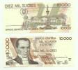1998 Ecuador 10000 Sucres Note P.127c UNC - Equateur